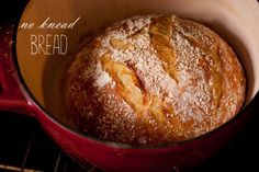 Crusty No Knead Bread - easiest bread you'll ever make! I make it all the time and everyone always asks for the recipe.