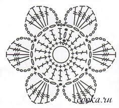 Výsledek obrázku pro схемы цветочков крючком