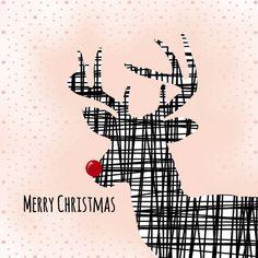 Kerstkaart CliniClowns rendier 2, verkrijgbaar bij #kaartje2go voor €1,89