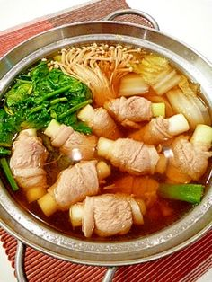 """Healty NABE for cold prevention(Welsh onion,Ginger,pork)"""