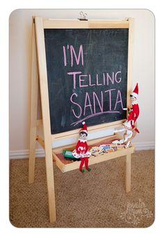 Elf on a shelf: I'm telling Santa!!!