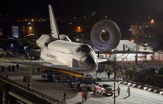 Space Shuttle Endeavour on the Streets of Los Angeles