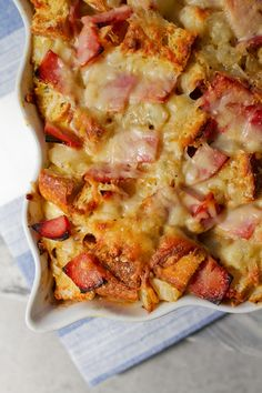 Croque Monsieur Savory Bread Pudding