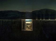 Casa Brutale is a conceptually designed minimalist home by OPA (Open Platform for Architecture), merged into a rock face high above the Aegean Sea, Greece. Haus Am Hang, Crazy Home, Cliff Diving, Cliff House, Concept Home, Spiegel Online, Fantasy House, House Built, Glass House