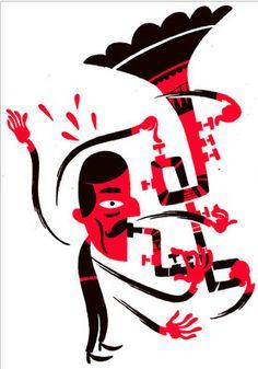 Illustration for club Mau Mau. Design by Sami Vähä-Aho Screen Printing, Club, Illustration, Design, Screen Printing Press, Silk Screen Printing, Illustrations, Screenprinting