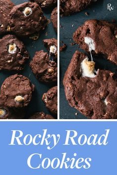 Chocolate lovers, this one's for you. These rocky road cookies are intensely fudgy. Packed with marshmallows, nuts and chocolate, this 30-minute recipe is here to satisfy all of your cravings. #recipe #cooking #dessert