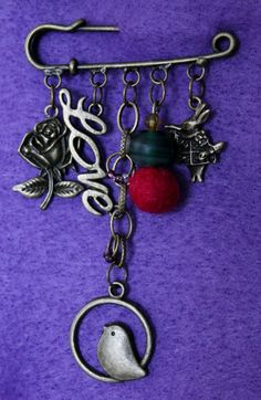 Steampunk Kilt Pin Brooch  Four Charmed by FeltAmazed on Etsy, £6.40 reduced from £8.00!