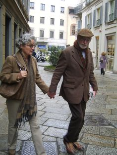 STILISSIMO: Milan Street style LOVE!! I hope Mike and I are this stylish at that age