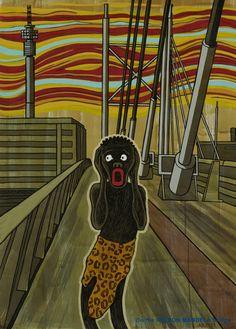 Anton Kannemeyer - Scream - Munch