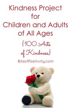 The 100 Acts of Kindness Project from Martin Luther King Day to Valentine's Day isn't just for parents with young children. You'll find 100 Acts of Kindness ideas and resources for toddlers through all ages of adults in this post - Bits of Positivity Kindness Ideas, Kindness Projects, Character Education, Homeschool Curriculum, Raising Kids, Martin Luther King Day, Young Children, Learning Activities, Word Art