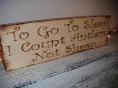 To Go To Sleep, I Count Antlers, Not Sheep! Sweet baby boy\'s nursery decor