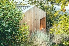 architectureandfilmblog: WOODEN STUDIO (DOM ARCUITECTURA) (2016) A look at a sustainable prefab studio set within nature in the hills outside Barcelona. (Photo via Archiproducts)