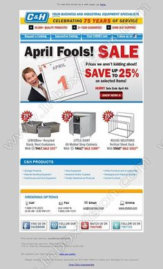 Company Pfi International Subject April Fools Prices We Aren T Kidding About Newsletter Templatesemail