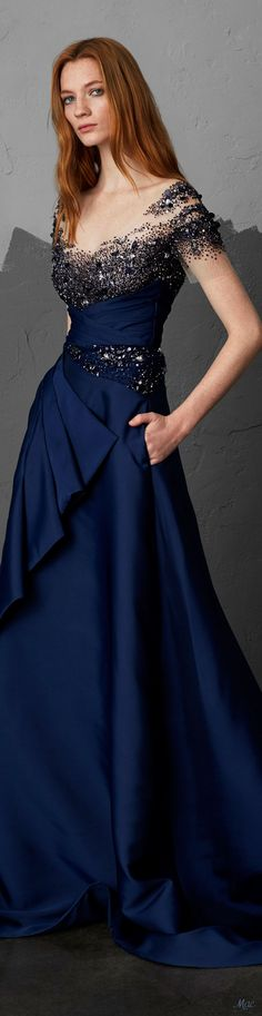 This gown is stunning! Pretty Dresses, Blue Dresses, Prom Dresses, Beautiful Gowns, Beautiful Outfits, Formal Gowns, Formal Prom, Elegant Outfit, Dream Dress