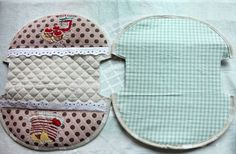 How to make a cute quilted zippered makeup bag! DIY Pattern & Tutorial in Pictures.