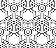 Black And White Illusive Abstract Geometric Seamless 3d Pattern... Royalty Free Cliparts, Vectors, And Stock Illustration. Image 44789535.
