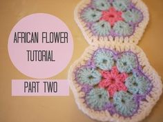 CROCHET: African flower tutorial PART TWO | Bella Coco - YouTube