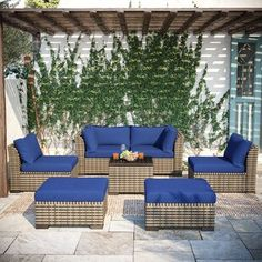 Sol 72 Outdoor™ Merlyn 11 Piece Sectional Seating Group with Cushions | Wayfair Outdoor Sofa, Outdoor Furniture Sets, Outdoor Decor, Pool Floats For Adults, Patio Seating, Love Seat, Cushions, Indoor, Cushion Covers