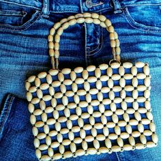 Small beaded denim mini handbag Adorable small handbag with one zippered inside pocket. Easily fits my phone, lip gloss, cards and cash Charlotte Russe Bags Mini Bags