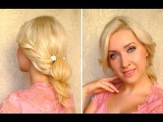 Romantic and soft updo with a flipped bun