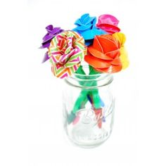 Duck Tape Rose Pens:  Create a bouquet of pens with your favorite Duck Tape® varieties! Duct Tape crafts are easy for any age and these pens make for a great Mother's Day or Teacher gift, or use as a favor for a shower!