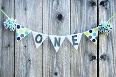 Boys 1st Birthday Highchair Banner - Cake Smash Banner - Customize Colors - Photo Prop on Etsy, $22.08 CAD