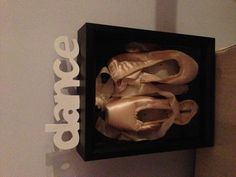 My first pointe shoes framed