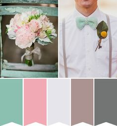 Pretty Pink and Merry Mint Wedding Colour Inspiration | onefabday.com