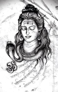 Here you will find most beautiful and attractive Shiva tattoo designs and ideas for your Shiva tattoos, Lord shiva beautiful tattoos and designs for men and women. Mahakal Shiva, Shiva Art, Hindu Art, Rudra Shiva, Hindu Tattoos, Arm Tattoos, Sleeve Tattoos, Mandala Tattoo, Lotus Tattoo