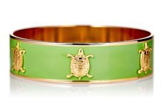 Lime Turtle Charm Bangle on OneKingsLane.com