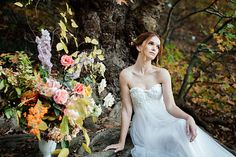 'To Autumn' styled shoot Hello It, Sadie, Wedding Cakes, Floral Design, Hair Makeup, Editorial, Gowns, Autumn, Couture