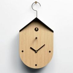 Free Time Cucu Wall Clock - wooden designer cuckoo clock