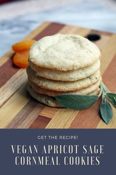 Have an abundance of fresh sage? Try these light and airy Vegan Apricot Sage Cornmeal cookies. They have a unique flavor and are very easy to make.