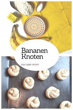 Sugar-free banana knots that perfectly fit into the lunchbox .- Zuckerfreie Bananenknoten, die perfekt ind die Lunchbox passen Fluffy banana knots from yeast dough. Without added sugar. Great for the lunch box, bento box or as a school lunch set. Lunch Snacks, Lunch Recipes, Baby Food Recipes, Healthy Snacks, Healthy Recipes, Bread Substitute, Boite A Lunch, Banana, Vegan Cake