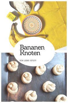 Fluffige Bananenknoten aus Hefeteig. Ganz ohne zugesetzem Zucker. Prima auch für die Lunchbox, Bentobox oder als Schulbrotersatz. #bentoforkids #kidsbento #brotbox #schulbrot