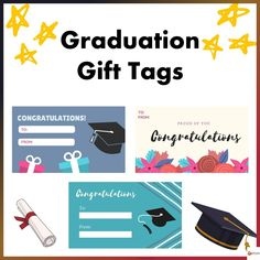 Spruce up your graduation gifts with these gift tags School Resources, Classroom Resources, All Schools, Back To School, School Stuff, Proud Of You, Text You, My Teacher, Graduation Gifts