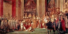 The Consecration of the Emperor Napoleon and the Coronation of the Empress Josephine by Pope Pius VII, December 1804 - Jacques-Louis David - 1807 - Neoclassicism- Gallery: Musée du Louvre, Paris, France Napoleon Josephine, Empress Josephine, The Empress, French History, Art History, History Class, European History, Jacque Louis David, Oil Painting Reproductions