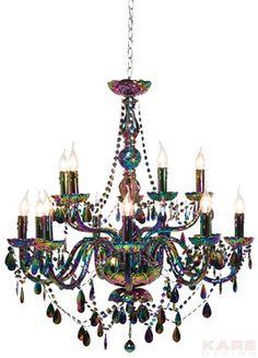 Pendant Lamp Gioiello Black Luster 14-Branched