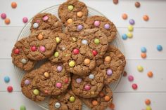 Smartie Cookies, Baking Cookbooks, Vanilla Essence, White Chocolate Chips, Cake Tins, Biscuit Recipe, Gluten Free Baking, Tray Bakes, Quick Easy Meals