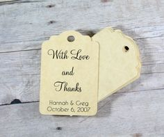 Antique Gold Wedding Gift Tags set of 20  by ThePaperMedley