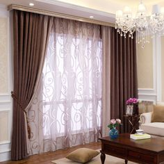 Bedroom or Living Room Chenille Blackout curtains drapes Custom Drapes, Living Room Drapes, Curtains, Cheap Living Rooms, Home Curtains, Living Room Windows, Cool Curtains, Beige Dining Room, Luxury Curtains