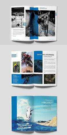 Booklet Design Layout, Graphic Design Layouts, Brochure Design, Brochure Template, Magazine Page Design, Interior Design Magazine, Flat Ui, Mises En Page Design Graphique, Catalogue Layout