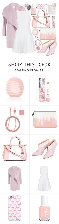 """Pastel Pink!!!"" by aphrodite-shomaly ❤ liked on Polyvore featuring Topshop, LAQA & Co., PhunkeeTree, Casetify, MICHAEL Michael Kors, Givenchy, Vince, Polo Ralph Lauren, Uncommon and Essie"