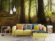 Salon w tajemniczym lesie http://mural24.pl/konfiguracja-produktu/124838761/ #homedecor#fototapeta#obraz#plakat#aranżacjawnętrz