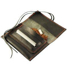 Mini leather tobacco pouch - Black Mamba