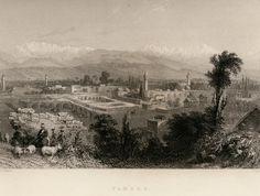 #Mersin.. #Tarsus gravür W.H.Barlett.. şehirden görünüm...