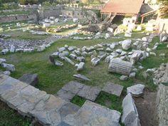 Die Reste des Fundamentes vom Grabmal des König Mausolos in Halikarnassos
