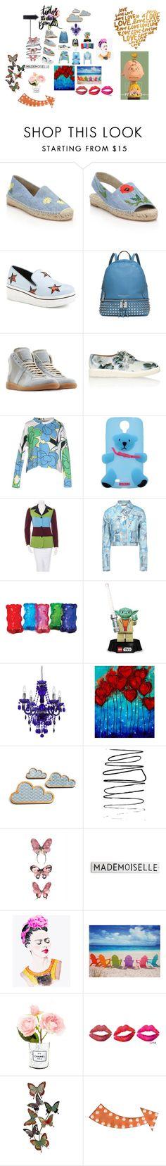 """All Blue"" by rosastreet on Polyvore featuring moda, STELLA McCARTNEY, MICHAEL Michael Kors, Maison Margiela, Marni, Moschino, Lego, AF Lighting, Chanel e Dot & Bo"