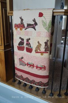 Have a Daily Cup of Mrs. Olson-chocolate bunny quilt