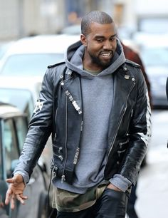 Kanye in Paris 1/16/14...cut of the head and a great look
